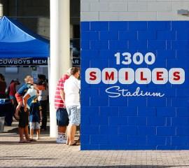 1300SMILES Stadium Signage